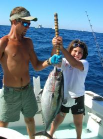 Boat named after Caroline, my youngest daughter. Here she wins the Destin Fishing rodeo in 2005 at age 9!