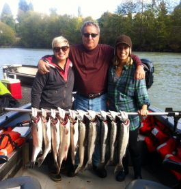 Happy customers just another day on the cowlitz river.