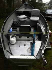 This is our drift boat for smaller rivers our sled can't fish.
