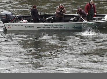 This is a photo of a live river camera from the Cowlitz river in washington