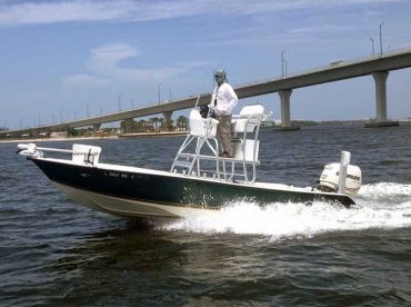 22' Action Craft Coastal Bay boat will keep you dry and safe.