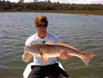Happy client caught this nice oversized redfish inshore.