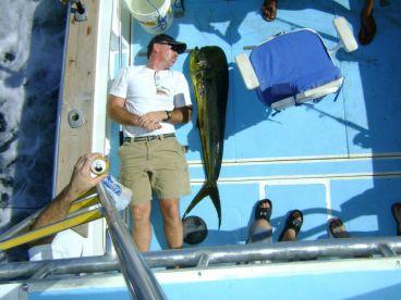 Mahi mahi Fishing aboard Tuna Fish on a Half day from Four Seasons Costa Rica