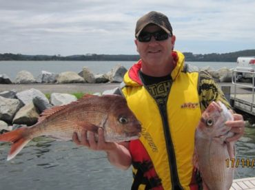 2 nice snapper caught of Batemans Bay NSW