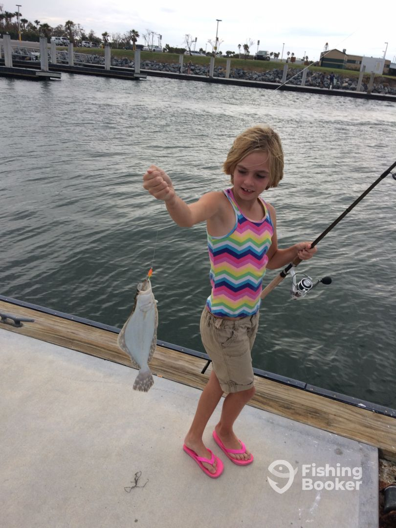 flounder before we left the dock