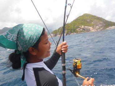 Sport fisher lady