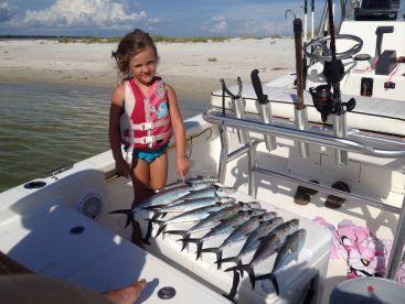 Pensacola bay spainish mackerels