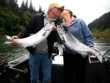 Rhonda and Howard celebrated their anniversary with us catching Rogue Spring Salmon.