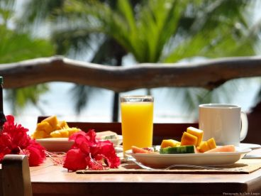 Breakfast at our upstairs restaurant each morning offering incredible views and made to order breakfast!