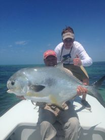 monster Permit on the Flats, 3 feet of water!
