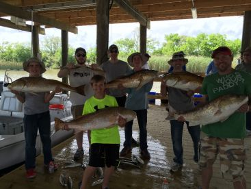 Father and son trip that hammered the bull redfish