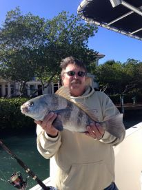 Too rough for offshore fishing. Stayed inshore. Nice Blackdrum Dennis!