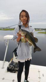 She caught her first bass