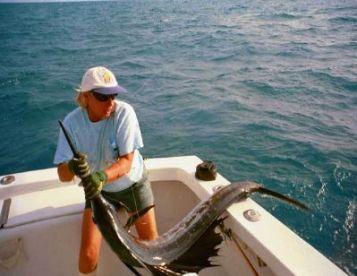 Capt. Linda boating a sailfish