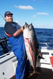 Matt with a Bluefin Tuna at Portland Victoria