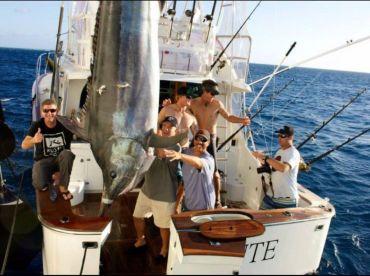 1000 lb plus Black Marlin caught aboard Levante