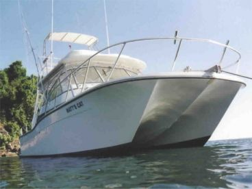 Power catamaran sport fishing