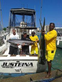 We love deep sea fishing, any kind of fishing.