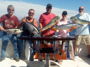 Variety!  Blackfin, Yellowfin, Wahoo and Mahi!!!