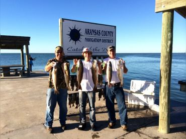 Limit of redfish limit of drum one trout