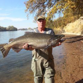 Captain Gordon with a BIG Sacramento King Salmon!