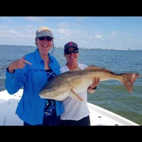 Her first redfish!