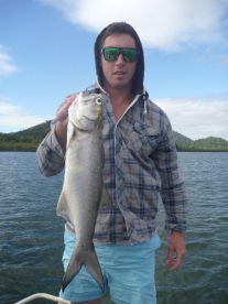 Estuary fishing for Blue Salmon