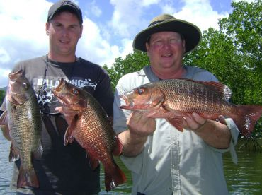 Fishing with the family for Mangrove Jacks
