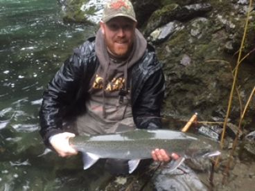 Steelhead caught on fly