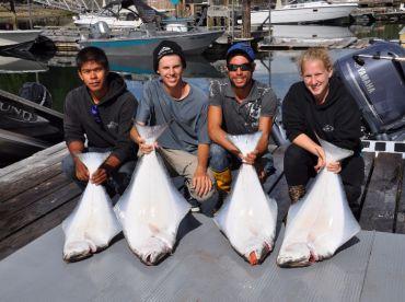 Halibut fishing is incredible all season long!