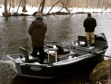 Our Stealthcraft was set up to make it the perfect float fishing platform