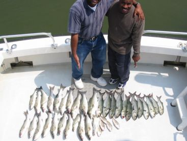 Bluefish and Spanish mackerel fishing is great in mid-late summer