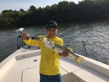 First Snook ever. A day he will never forget
