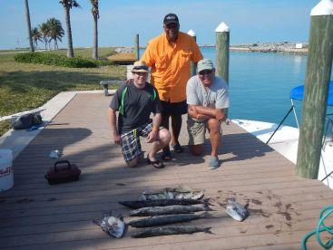 The Captain, Brennan, John and their catch!