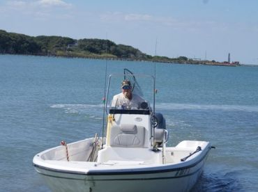 Captain Randy Hoyt and his Boat