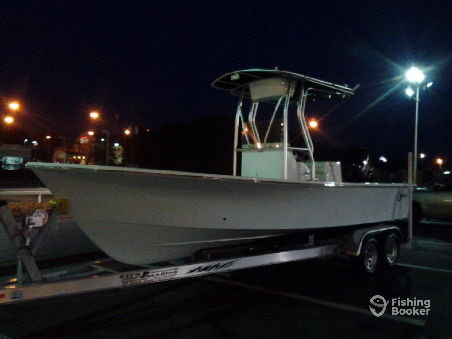 23ft C-Hawk 2014 one of many choices of boats available. Also have flats boat & flounder boat.
