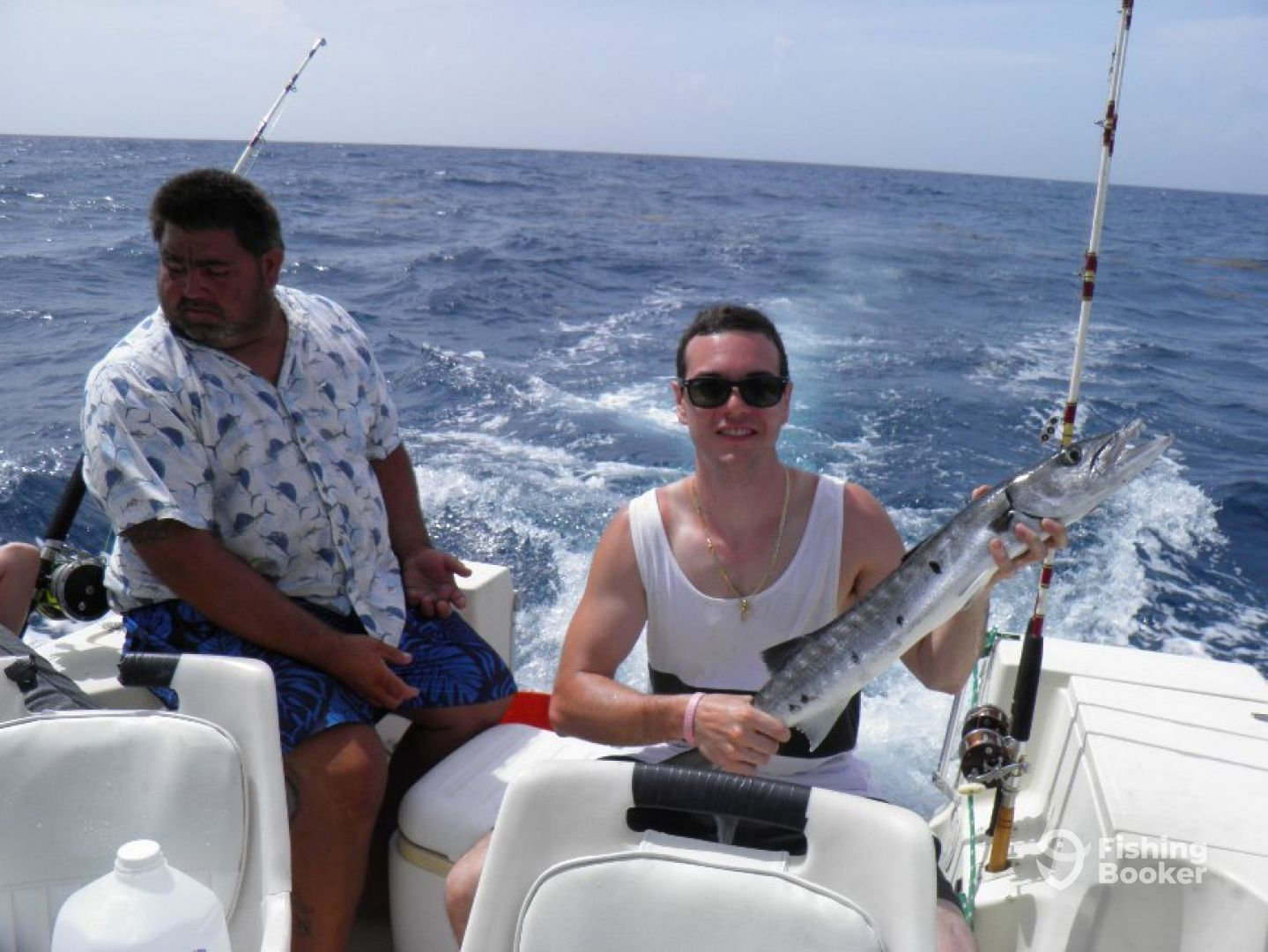 Angler with barracuda 09/06/2014