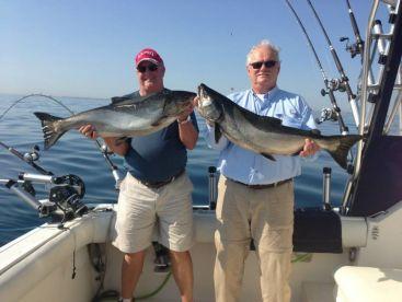Bill & Carl with 2 nice Kings!