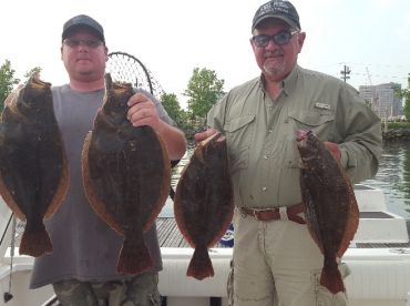 4 keeper fluke with the largest 8 lbs and 28