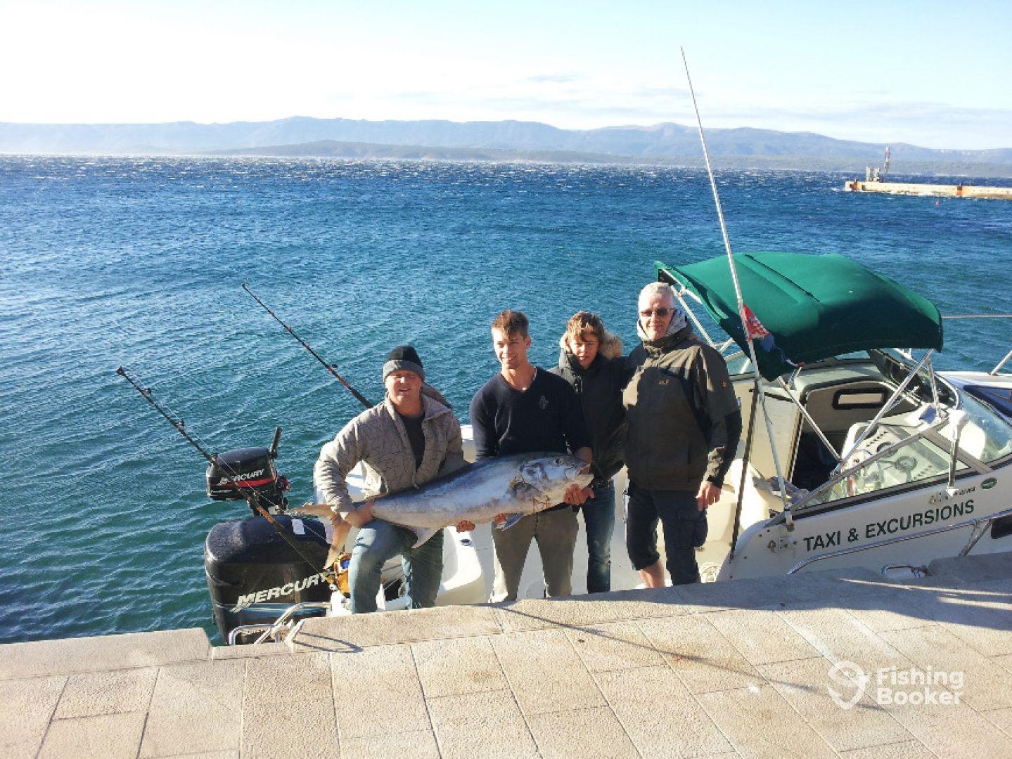 Amberjack 40kg aboard our 23ft Trophy boat