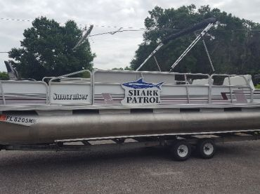 24 ft Pontoon, ideal for parties of 4 -6 people