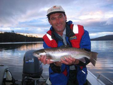 Penstock lagoon, rainbow trout.