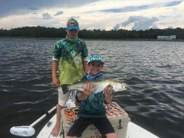 Trout on live bait