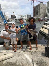 Capt Matthew, Connor (his son) Alex, and Joshua