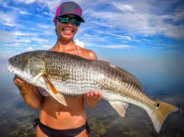 Big redfish she pulled in