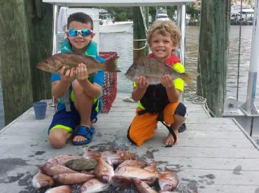 We love fishing with children