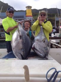 Yellowfin Tuna is Cape Town Fishing Charters main target species from October thru to July