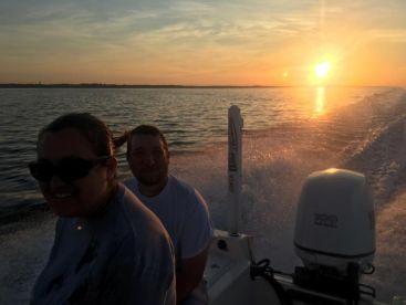 Calm Morning Ride Out in Pensacola Bay.