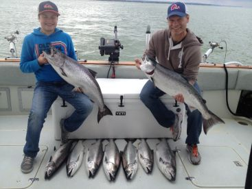 Father & Son with there limit