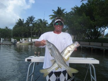 Hunter with Double Snook